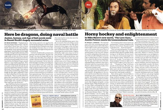 Article Preview: Horny hockey and enlightenment, JUNE 30th 2008 2008 | Maclean's