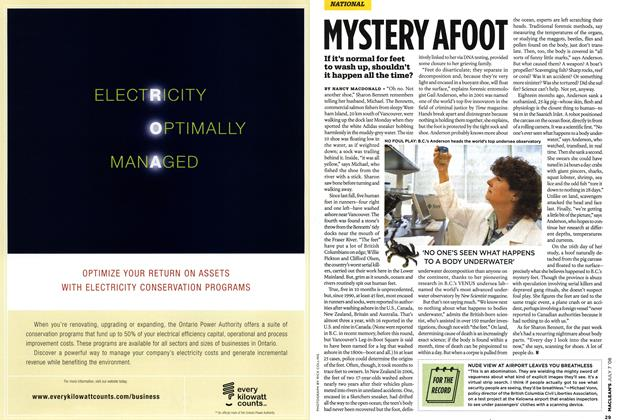 Article Preview: MYSTERY AFOOT, JULY 7th 2008 2008 | Maclean's