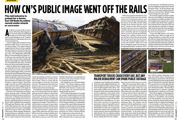 Article Preview: HOW CN'S PUBLIC IMAGE WENT OFF THE RAILS, JULY 7th 2008 2008 | Maclean's