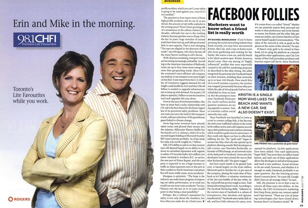 Article Preview: FACEBOOK FOLLIES, JULY 7th 2008 2008 | Maclean's