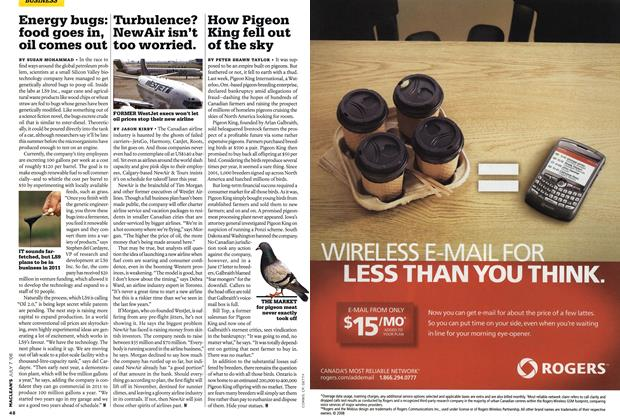 Article Preview: Turbulence? NewAir isn't too worried., JULY 7th 2008 2008 | Maclean's