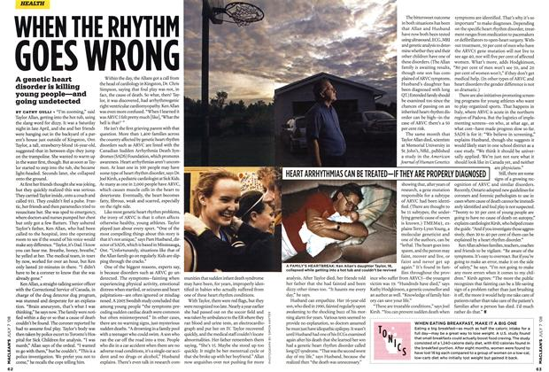 Article Preview: WHEN THE RHYTHM GOES WRONG, JULY 7th 2008 2008 | Maclean's