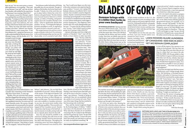 Article Preview: BLADES OF GORY, JULY 7th 2008 2008 | Maclean's