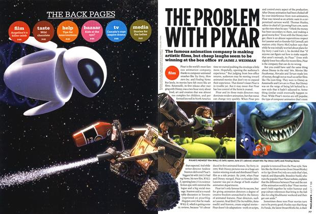 Article Preview: THE PROBLEM WITH PIXAR, JULY 7th 2008 2008 | Maclean's