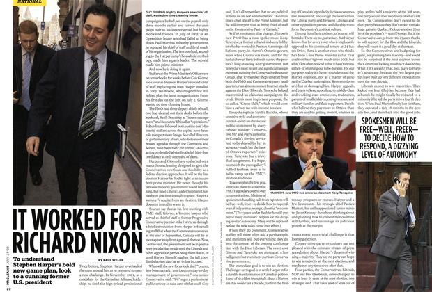 Article Preview: IT WORKED FOR RICHARD NIXON, JULY 21st 2008 2008 | Maclean's