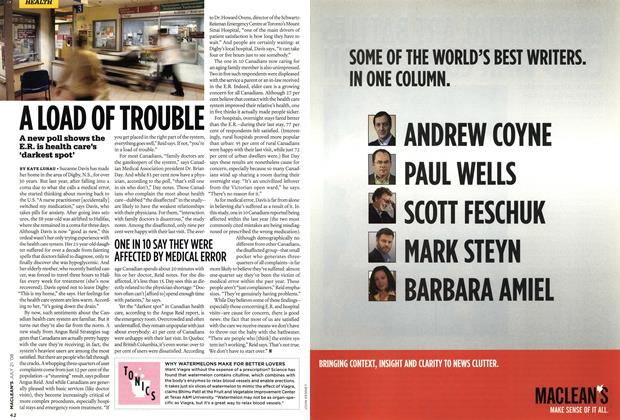Article Preview: A LOAD OF TROUBLE, JULY 21st 2008 2008 | Maclean's