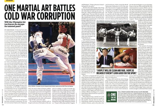 Article Preview: ONE MARTIAL ART BATTLES COLD WAR CORRUPTION, JULY 21st 2008 2008 | Maclean's