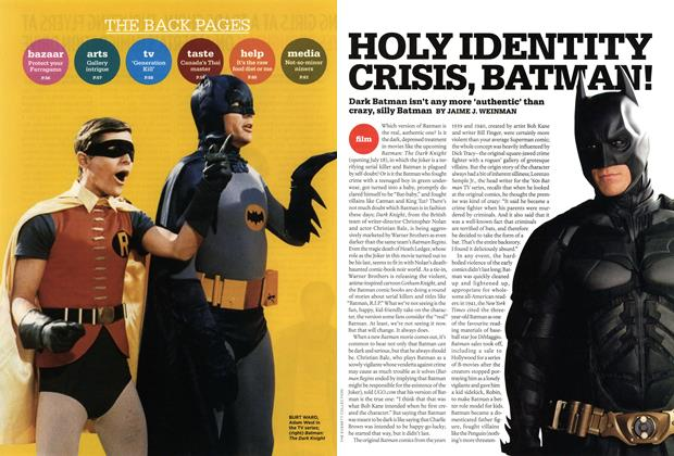 Article Preview: HOLY IDENTITY CRISIS BATMAN, JULY 21st 2008 2008 | Maclean's