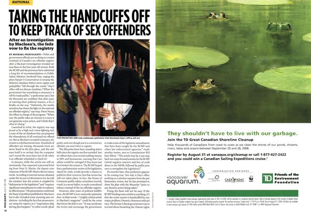 Article Preview: TAKING THE HANDCUFFS OFF TO KEEP TRACK OF SEX OFFENDERS, JULY 28th 2008 2008 | Maclean's