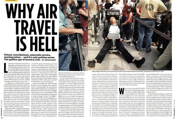 Article Preview: WHY AIR TRAVEL IS HELL, JULY 28th 2008 2008 | Maclean's
