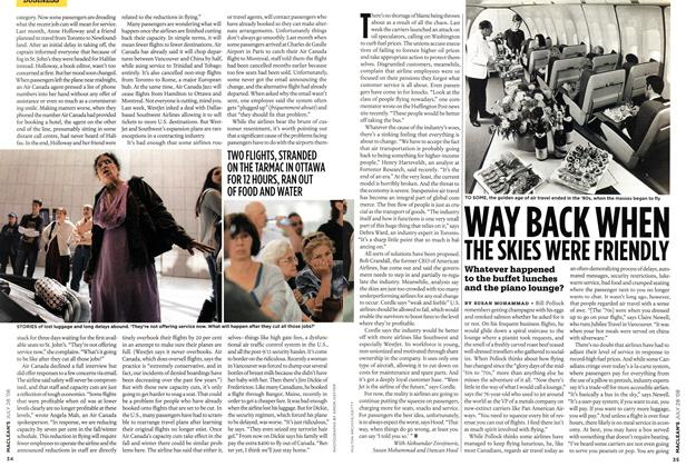 Article Preview: WAY BACK WHEN THE SKIES WERE FRIENDLY, JULY 28th 2008 2008 | Maclean's