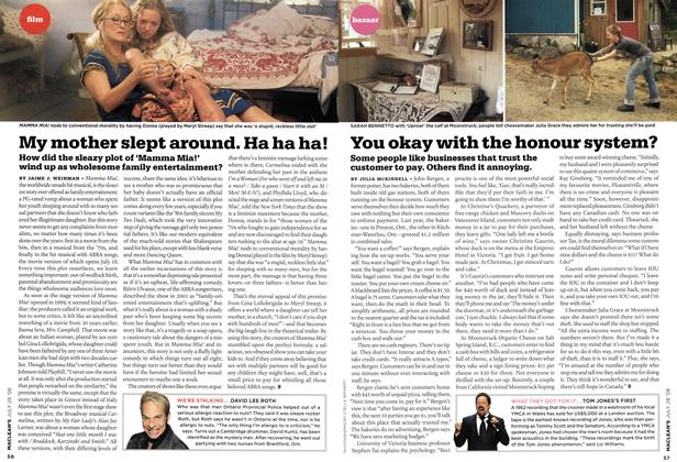 Article Preview: My mother slept around. Ha ha ha!, JULY 28th 2008 2008 | Maclean's