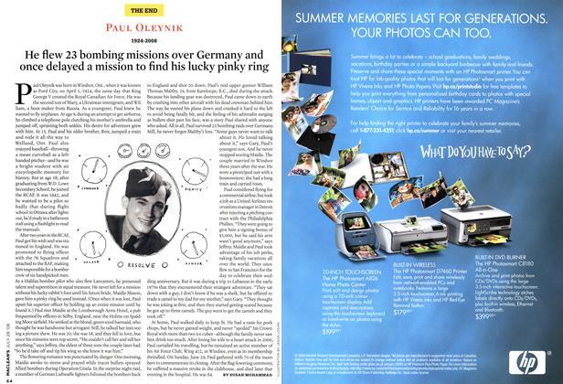 Article Preview: PAUL OLEYNIK 1924-2008, JULY 28th 2008 2008 | Maclean's