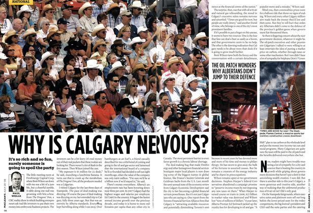 Article Preview: WHY IS CALGARY NERVOUS?, JULY 28th 2008 2008 | Maclean's