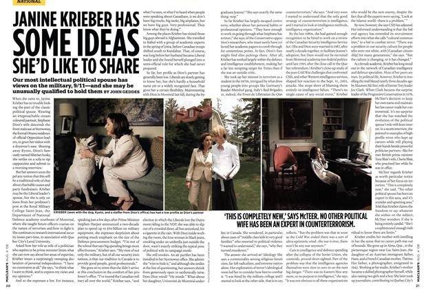 Article Preview: JANINE KRIEBER HAS SOME IDEAS SHE'D LIKE TO SHARE, AUG. 4th 2008 2008 | Maclean's