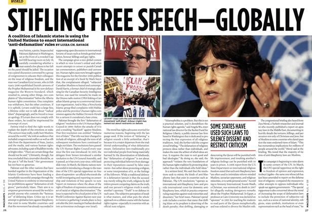 Article Preview: STIFLING FREE SPEECH-CLOBALLY, AUG. 4th 2008 2008 | Maclean's