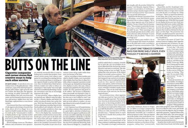Article Preview: BUTTS ON THE LINE, AUG. 4th 2008 2008   Maclean's