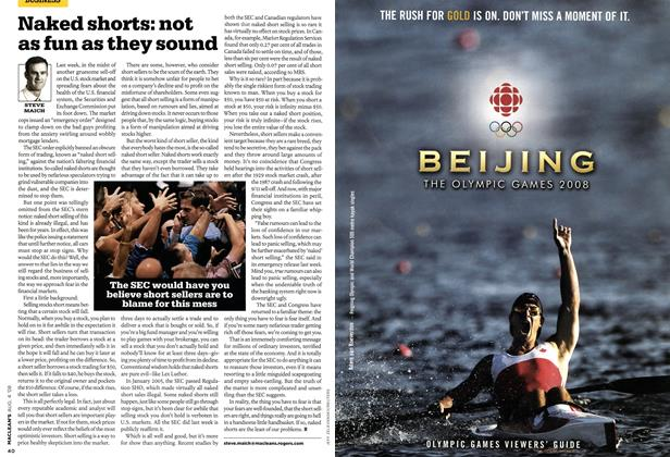 Article Preview: Naked shorts: not as fun as they sound, AUG. 4th 2008 2008 | Maclean's