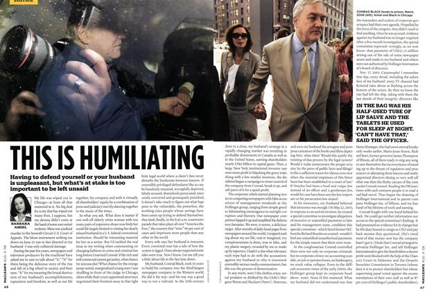 Article Preview: THIS IS HUMILIATING, AUG. 4th 2008 2008 | Maclean's