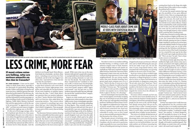 Article Preview: LESS CRIME, MORE FEAR, AUG. 18th 2008 2008 | Maclean's