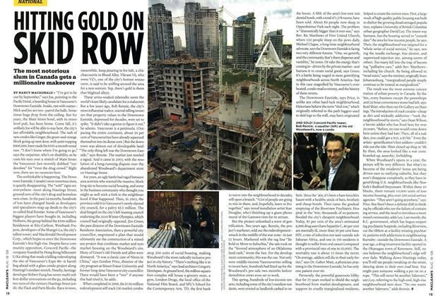 Article Preview: HITTING GOLD ON SKID ROW, AUG. 18th 2008 2008 | Maclean's
