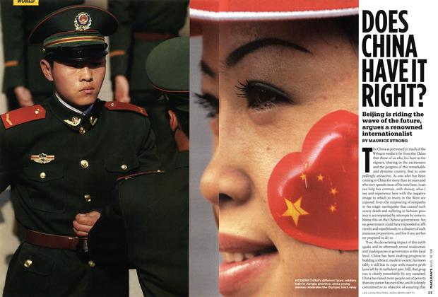 Article Preview: DOES CHINA HAVE IT RIGHT?, AUG. 18th 2008 2008 | Maclean's