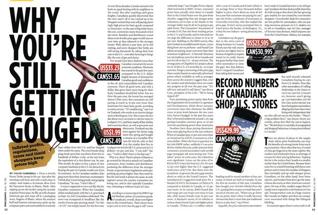 Article Preview: WHY YOU'RE STILL GETTING GOUGED, AUG. 18th 2008 2008 | Maclean's