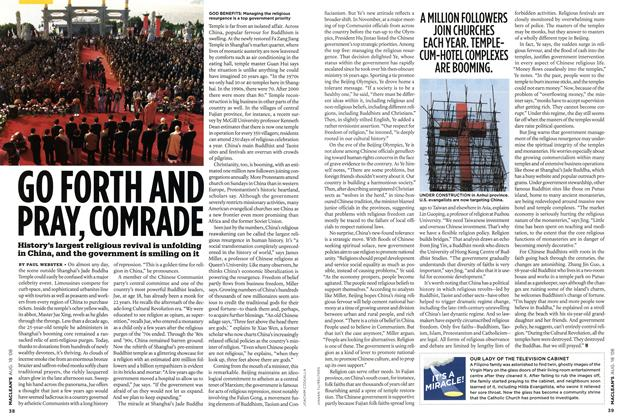 Article Preview: GO FORTH AND PRAY, COMRADE, AUG. 18th 2008 2008 | Maclean's