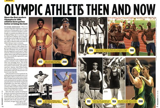 Article Preview: OLYMPIC ATHLETES THEN AND NOW, AUG. 18th 2008 2008 | Maclean's