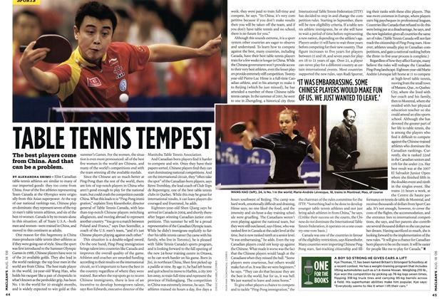 Article Preview: TABLE TENNIS TEMPEST, AUG. 18th 2008 2008 | Maclean's