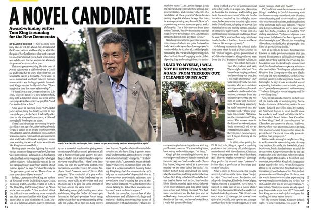 Article Preview: A NOVEL CANDIDATE, AUG. 18th 2008 2008 | Maclean's