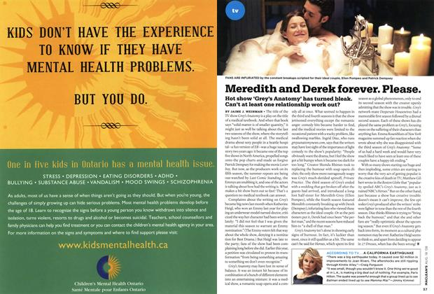 Article Preview: Meredith and Derek forever. Please., AUG. 18th 2008 2008 | Maclean's