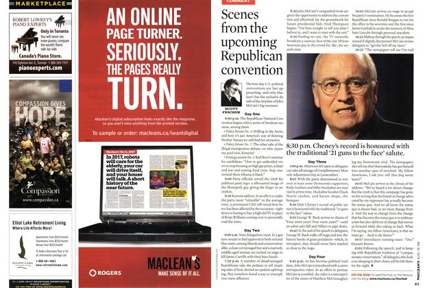 Article Preview: Scenes from the upcoming Republican convention, AUG. 18th 2008 2008 | Maclean's