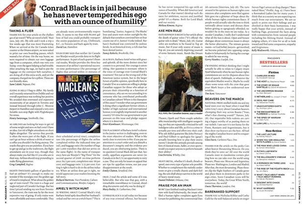 Article Preview: 'Conrad Black is in jail because he has never tempered his ego with an ounce of humility', AUG. 18th 2008 2008 | Maclean's