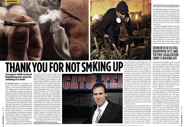 Article Preview: THANK YOU FOR NOT SMO KING UP, AUG. 25th 2008 2008 | Maclean's
