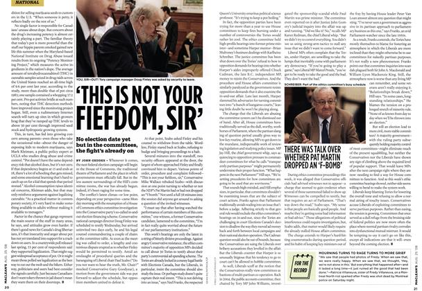 Article Preview: 'THIS IS NOT YOUR FIEFDON, SIR', AUG. 25th 2008 2008 | Maclean's