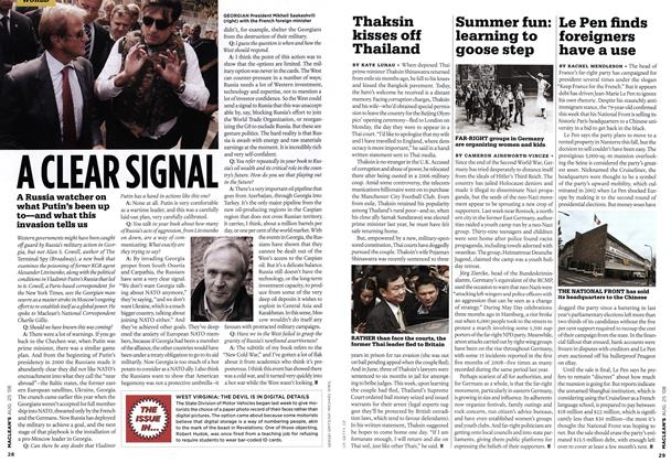 Article Preview: Le Pen finds foreigners have a use, AUG. 25th 2008 2008 | Maclean's