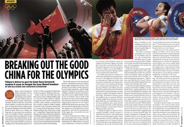 Article Preview: BREAKING OUT THE GOOD CHINA FOR THE OLYMPICS, AUG. 25th 2008 2008 | Maclean's