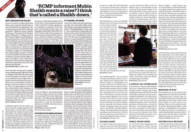 Article Preview: 'RCMP informant Mubin Shaikh wants a raise? I think that's called a Shaikh-down.', AUG. 25th 2008 2008 | Maclean's