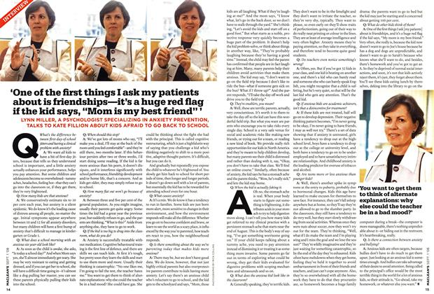 """Article Preview: 'One of the first things I ask my patients about is friendships—it's a huge red flag if the kid says, """"Mom is my best friend"""", September 2008 
