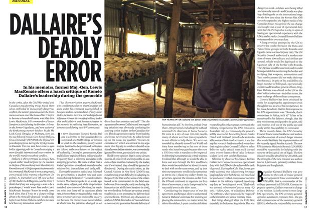 Article Preview: DALLAIRE'S DEADLY ERROR, September 2008 | Maclean's
