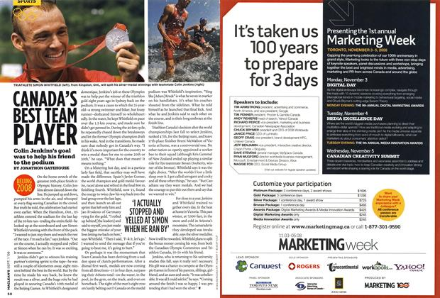 Article Preview: CANADA'S BEST TEAN PLAYER, September 2008 | Maclean's