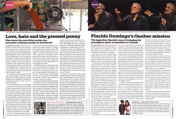 Article Preview: Placido Domingo's Quebec mission, September 2008 | Maclean's