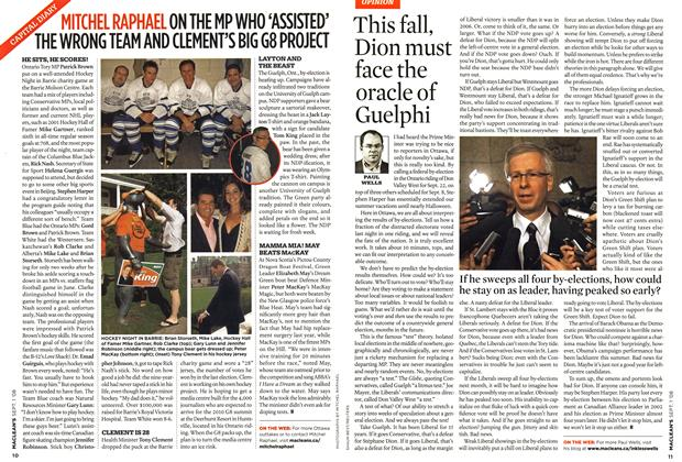 Article Preview: This fall, Dion must face the oracle of Guelphi, September 2008 | Maclean's