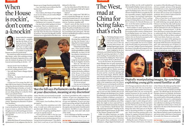 Article Preview: The West, mad at China for being fake: that's rich, September 2008 | Maclean's