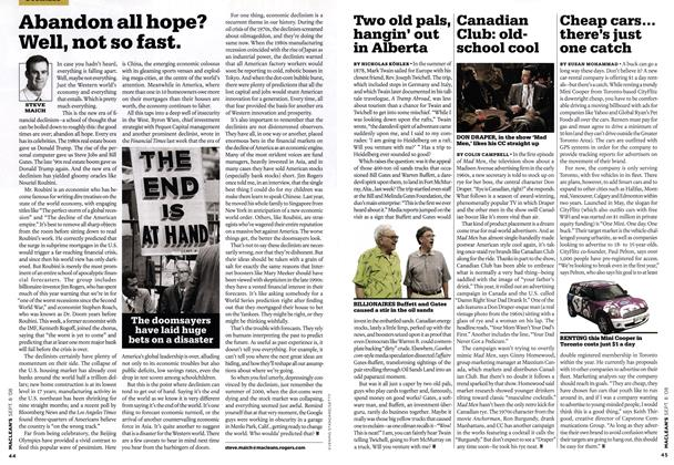 Article Preview: Two old pals, bangin' out in Alberta, SEPT. 8TH 2008 2008 | Maclean's