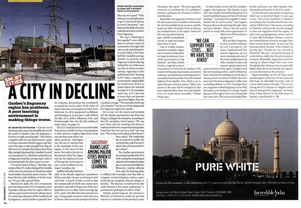 Article Preview: A CITY IN DECLINE, SEPT. 8TH 2008 2008 | Maclean's