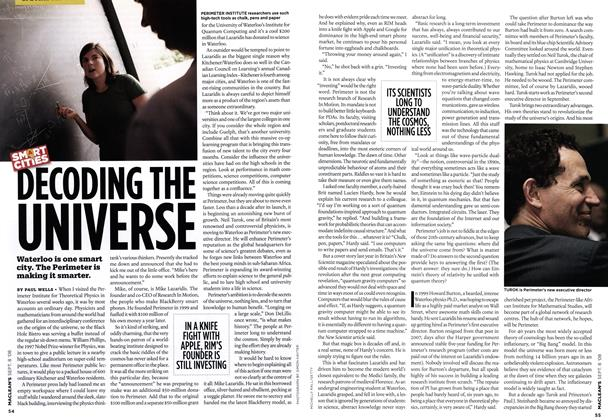 Article Preview: DECODING THE UNIVERSE, SEPT. 8TH 2008 2008 | Maclean's