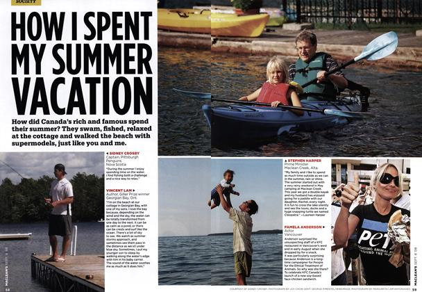 Article Preview: HOW I SPENT MY SUMMER VACATION, SEPT. 8TH 2008 2008 | Maclean's