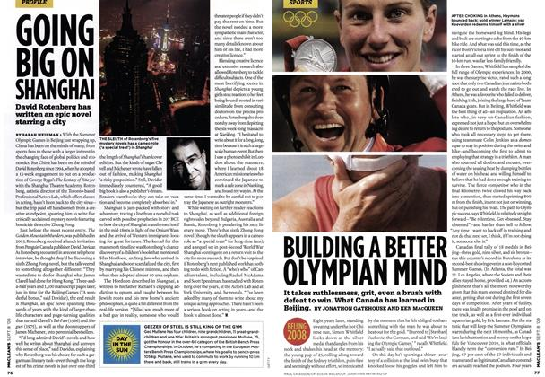 Article Preview: BUILDING A BETTER OLYMPIAN MIND, SEPT. 8TH 2008 2008 | Maclean's